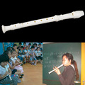 White Plastics Instrument 6 9 Holes Randomly Ship Musical Soprano Recorder Flute Long New Hot