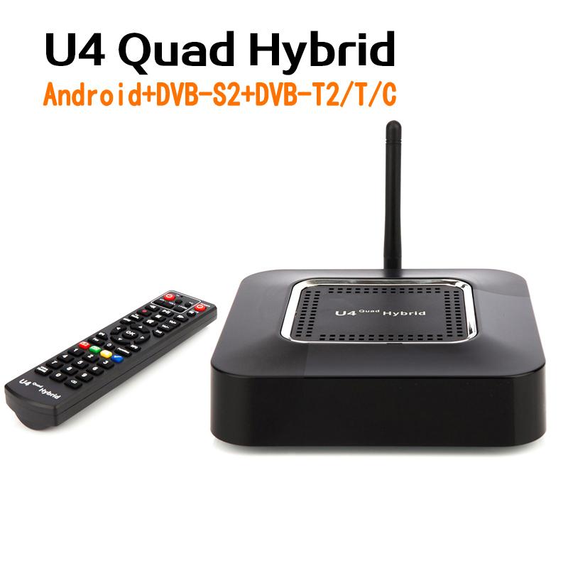 Genuine U4 Quad Hybrid Android Tv Box Dvb S2 Dvb T2 T C