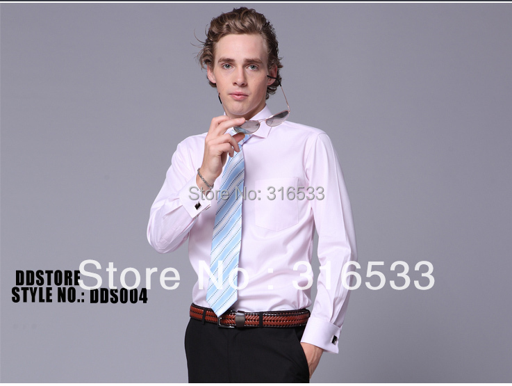 Men shirt supplier ddstore wholesale fashion dress shirts for French cuff shirts cheap