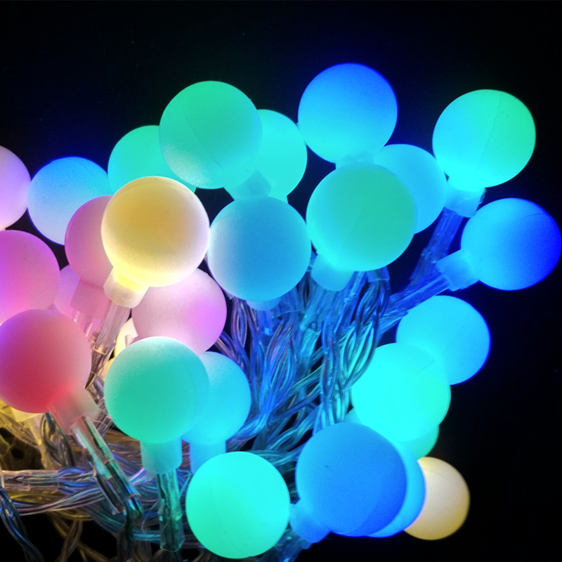 Ball Multicolor LED String Lights Indoor 10M 100led LED Rope Christmas Garlands Holiday Light ...