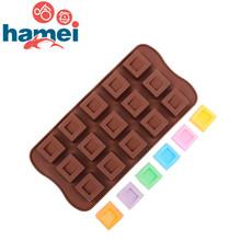 12-Hole Square Hole Chocolate Molds Ice Cube Kitchen Accessories Silicone Fondant Sugar Jelly Jello Soap Mould SGS Fast F2594
