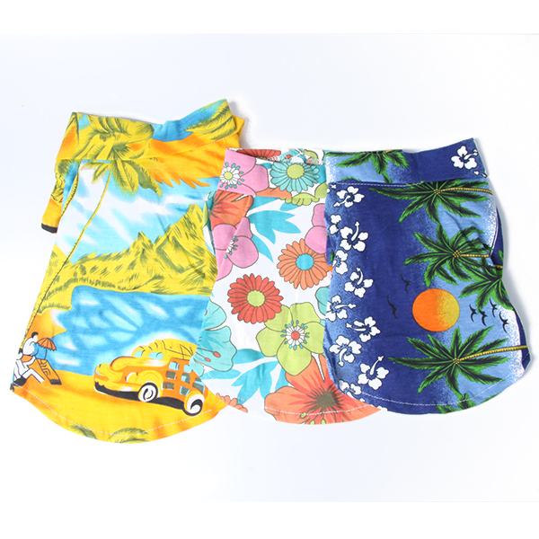 Dog Casual Canine Floral Shirt Hawaiian Camp Shirt Pet Summer Clothes Beach Top()