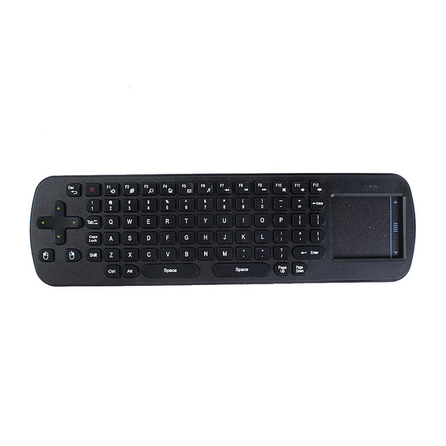 RC12 2.4G Wireless Fly Air Mouse and Touchpad QWERTY Keyboard combo kit