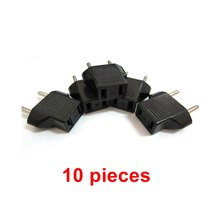 10PCS Universal US To EU Plug USA To Euro Europe Travel Wall AC Power Charger Outlet Adapter Converter Hot Household