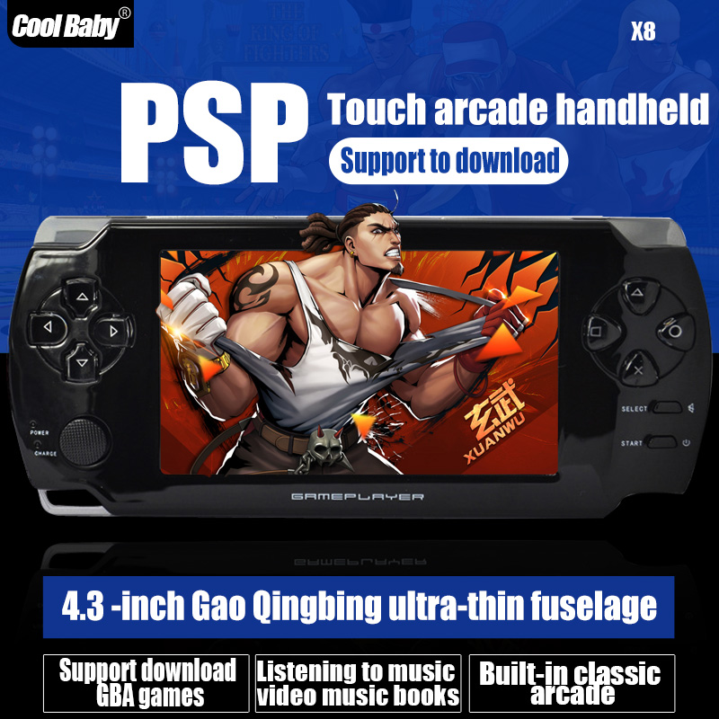Wholesale New 8GB 4.3 inch LCD Screen MP3 MP4 Players Games Console Handheld Game With TV Camera Vedio Game Consoles Ultra-thin(China (Mainland))