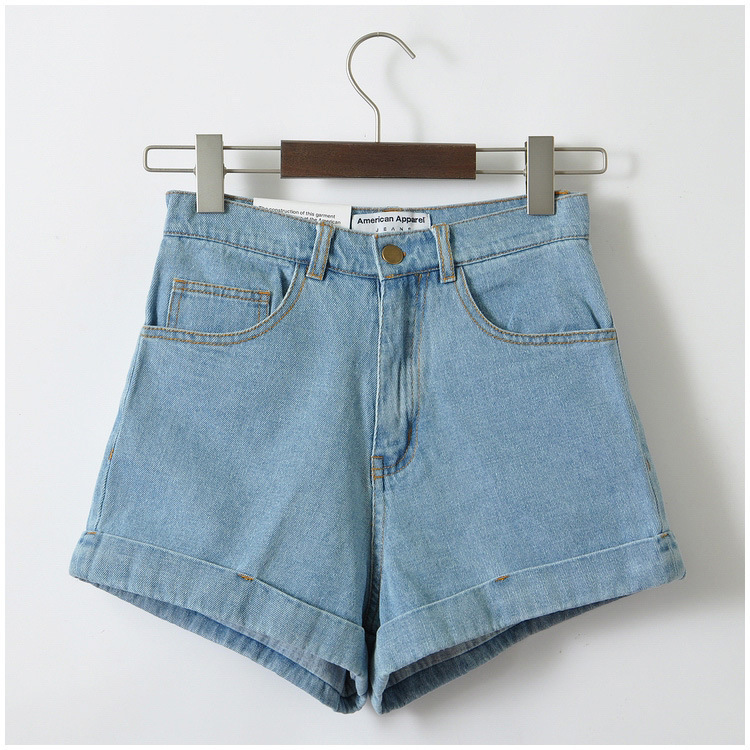 2015 new blue womens vintage high waisted short jeans high waisted denim shorts for women femme. Black Bedroom Furniture Sets. Home Design Ideas