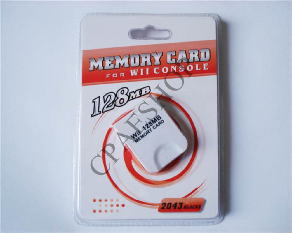 10 pcs/lot New White 128MB Memory Card for Nintendo Wii GameCube 2043 Blocks(China (Mainland))