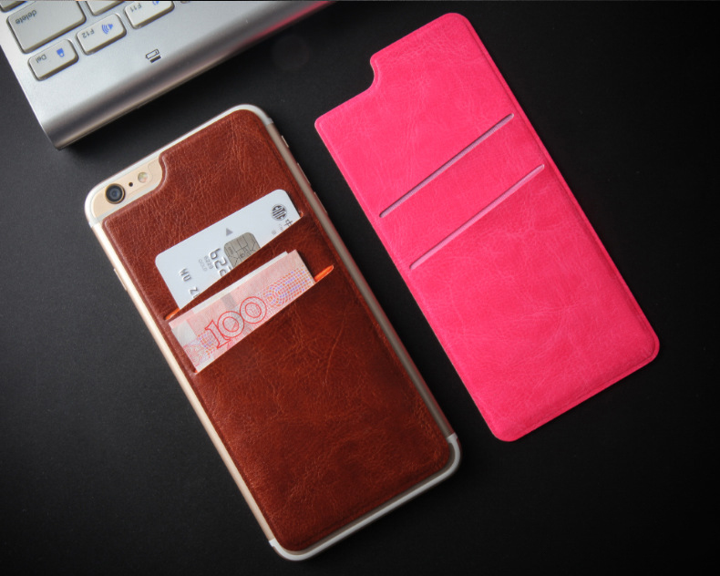 2 Slot Ultra Slim Credit Card Holder Self Adhesive Stick-on Wallet Phone Card Pocket Case for iPhone 6 6s Samsung S7 Edge(China (Mainland))
