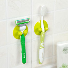 Multi-purpose Bathroom Kitchen Suction Cup Hook Toothbrush Holder Plastic Flying Disc Vacuum Sucker Hanger Free Shipping(China (Mainland))