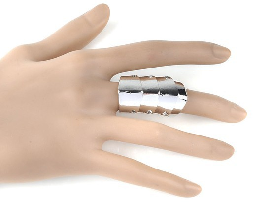 Fashion Punk Gothic Sliver Joint Hinged Full Finger Knuckle Armor Double Ring(China (Mainland))