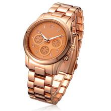 The gold watch Senior men leisure quartz watch Steel belt fashion watches Absolute high quality Is