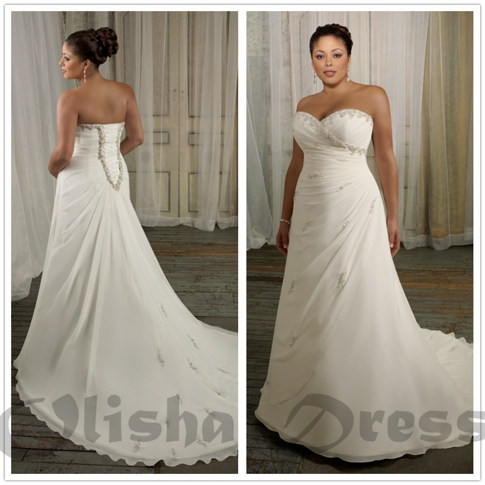 Buy 2016 new wholesale gorgeous plus size for Plus size sheath wedding dress