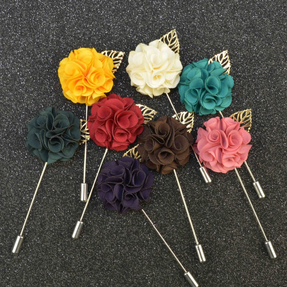 Black Flower Corsage Brooch Masoomah: Wholesale DIY Handmade Classic 2015 Men Lapel Pin Brooch