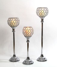 Acrylic beaded bling candle tealight lamps, set of 3pcs, for wedding decorations(China (Mainland))