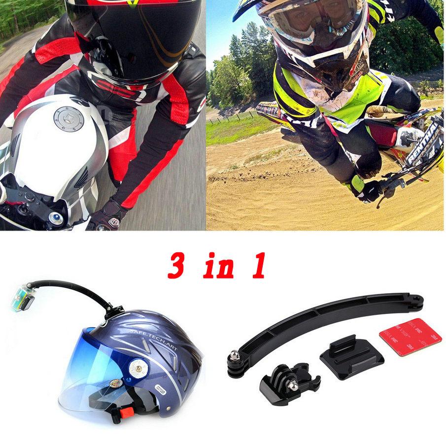 Гаджет  Motorcycle Cycling Helmet Extension Arm Mount + Buckle + 3M Sticker For Gopro Hero 1 2 3 SJ4000 SJ6000 for Go pro Accessories None Бытовая электроника
