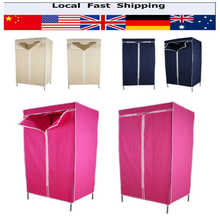 1Pcs 13mm Tubes Single Fabric Canvas Clothes Storage Organiser Wardrobe Cupboard Shelves Home Bedroom Cabinet  6 Colors(China (Mainland))
