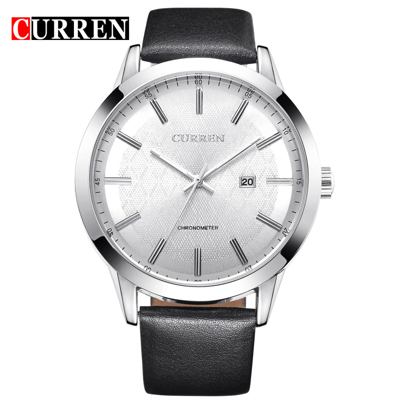 Newest Curren Reloj Hombre Famous Brand Men Watch Leather Strap Wristwatch Big Face Clendar Clock Male Cool Casual Sport Watches(China (Mainland))