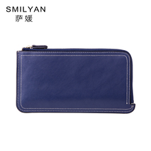Smilyan solid genuine leather women coin wallets purses bag small fashion coin passport wallet card holder
