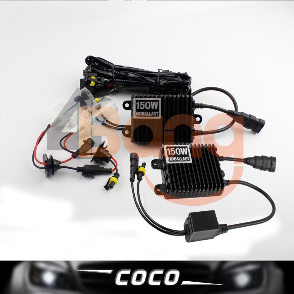 150W AC XENON HID KIT SLIM BALLAST H7 12V Bulbs Super bright Headlight 3000K 4300K 6000K 8000K 10000K 12000K