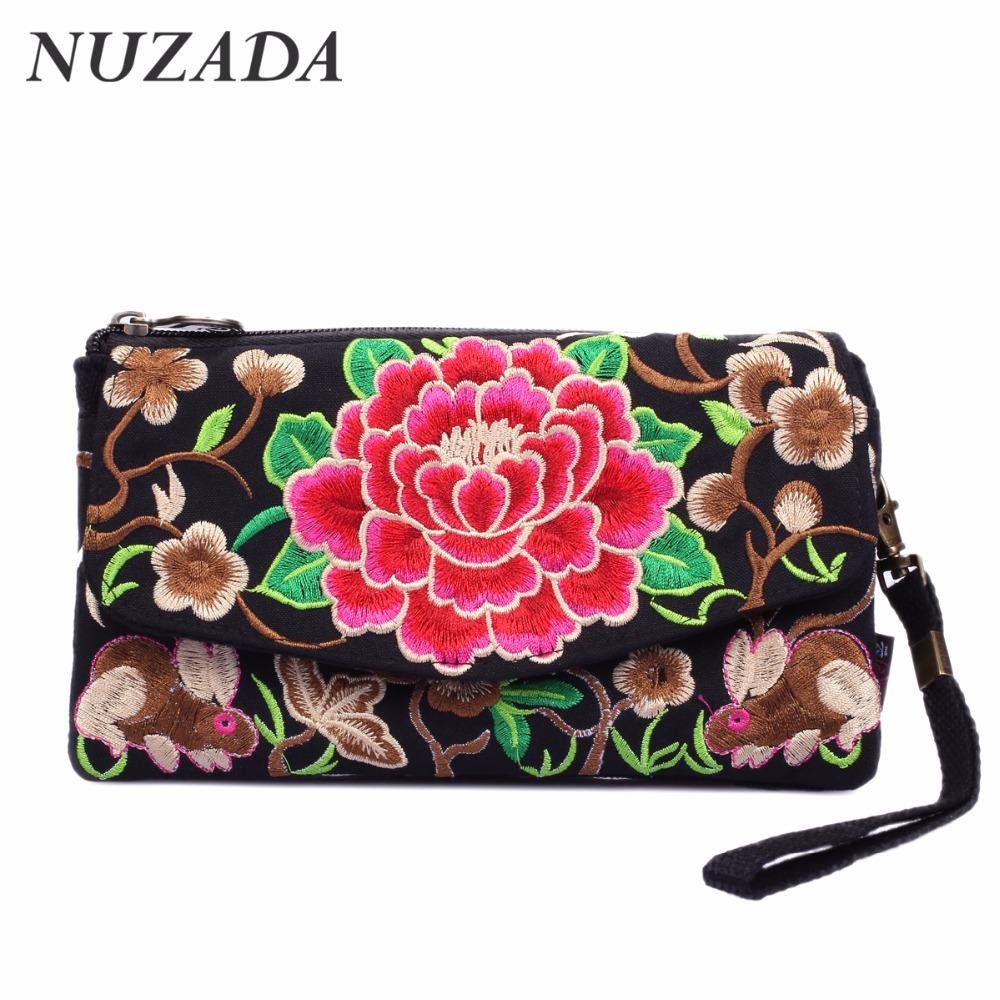 Brands NUZADA Women Grils Ladies Hand bag Handbag Tote Satchel Shoulder Messenger Crossbody Bags Embroidery canvas cyd-001(China (Mainland))