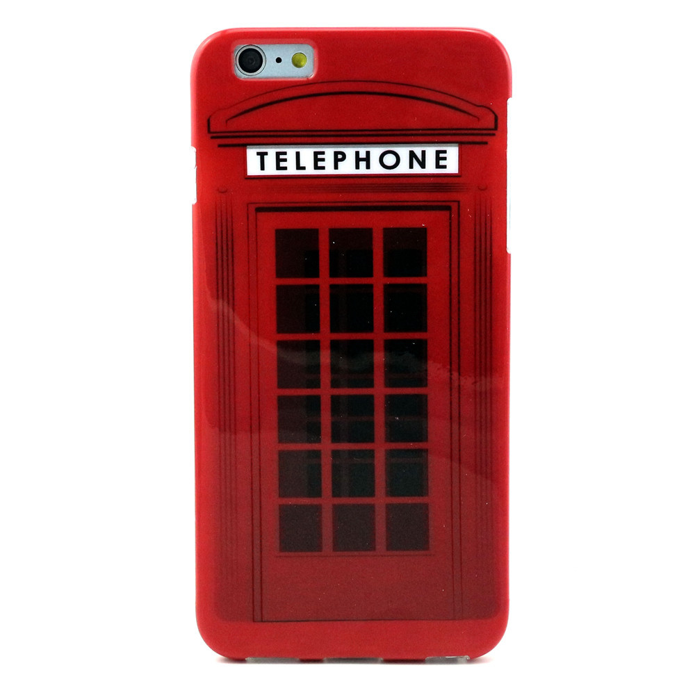red telephone booth mobile phone cases for iphone 6 6s plus case skin shell cover for iphone6s. Black Bedroom Furniture Sets. Home Design Ideas