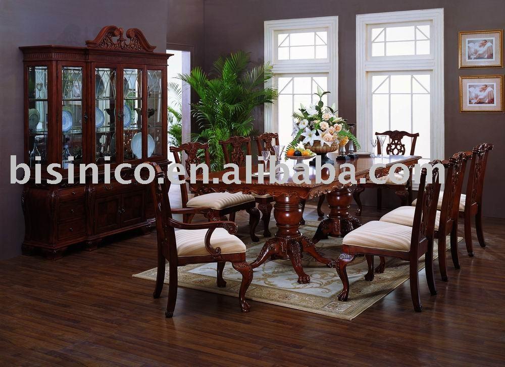 Muebles Antiguos Madera Maciza : Madera maciza de antig?edades muebles comedor mesa