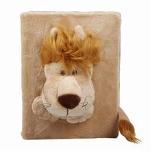 28.5*16.5cm Cartoon Photo Album Cover lion 3D Plush Velour Toys Keepsakes Photo Album Skin Cover Children Kids Gift