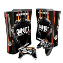 Protective Film Waterproof Decal For Black Ops 3 For Microsoft XBOX 360 Fat Console Skin Sticker Controller Cover