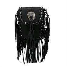 Hot Fashion Women's PU leather Suede Weave Tassel Shoulder Bag Rivets Messenger Bag Fringe solid color Handbags zip top purse(China (Mainland))