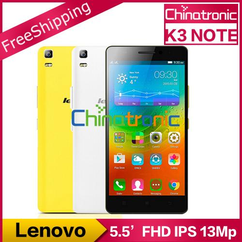 "Original Lenovo K3 Note K50-T5 Teana Android 5.0 Mobile Phone MTK6752 Octa Core 1.7G Dual SIM 4G FDD LTE 5.5""FHD 2G RAM 13MP(China (Mainland))"