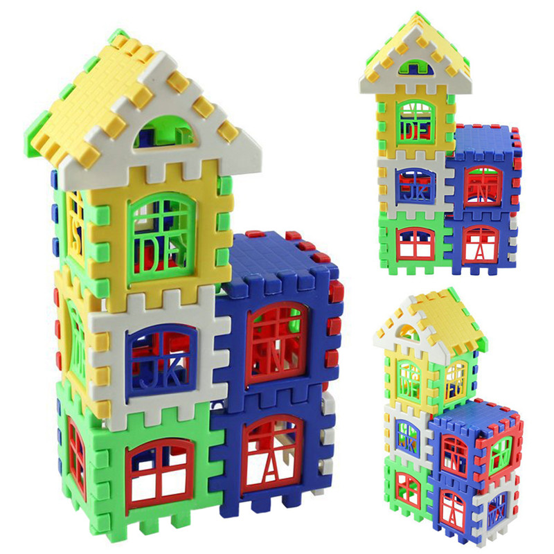 24pcs/lot Baby Kids Children House Building Blocks Educational Learning Construction Developmental Toy Set Brain Game(China (Mainland))