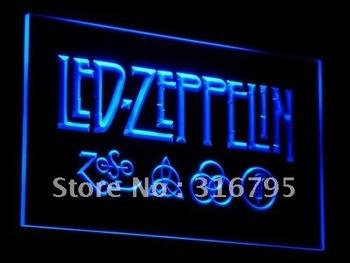 c002-b Led Zeppelin Rock n Roll Punk LED Neon Light Signs
