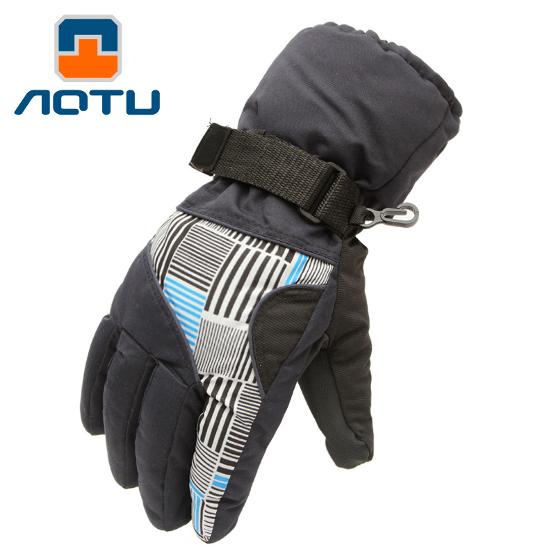2016 New Outdoor Equipment Guantes Esqui Snowboard Hombre Gloves Mens Thick Warm Mittens Skiing Waterproof Luvas De Inverno(China (Mainland))