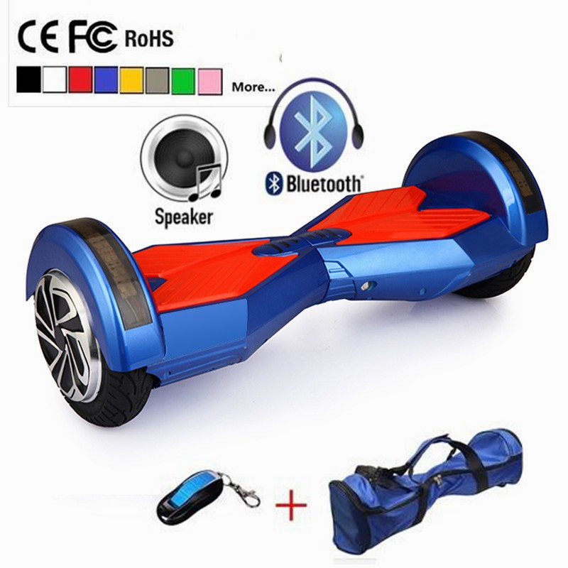 2016 New 8 inch Hoverboard electric Scooter Bluetooth speaker LED light 2 Wheel self balancing Scooter hover board(China (Mainland))
