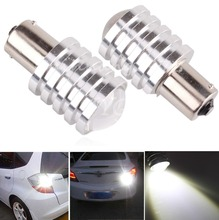 2X 1156 BA15s P21W Cree Q5 7W LED Turn Signal Light Tail Lamp Bulb White Car Reverse - Year-off store