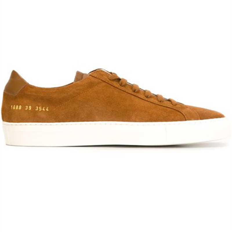 Фотография Original Woman By Common Projects Men Shoes Spring Stella Brown Genuine Leather Sheepskin Casual Shoes Chaussure Femme De Marque