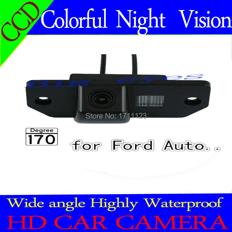 """Free shipping CCD 1/3"""" Car Rear view Camera Parking Back Up Reversing Camera For Ford Focus(3)/2008/2014 Focus(2) Night vision(China (Mainland))"""