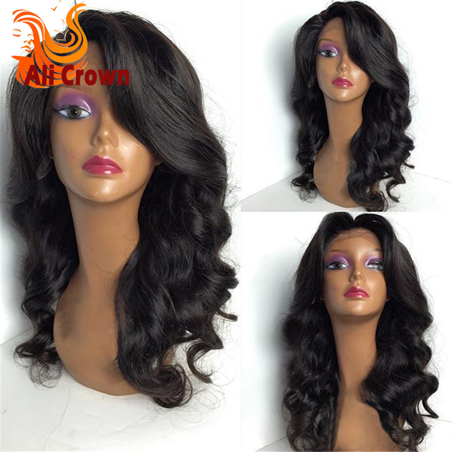 Glueless Full Lace Human Hair Wigs for Black Women 7A Grade Brazilian Full Lace Front Wig Body Wave Lace Front Human Hair Wigs<br><br>Aliexpress