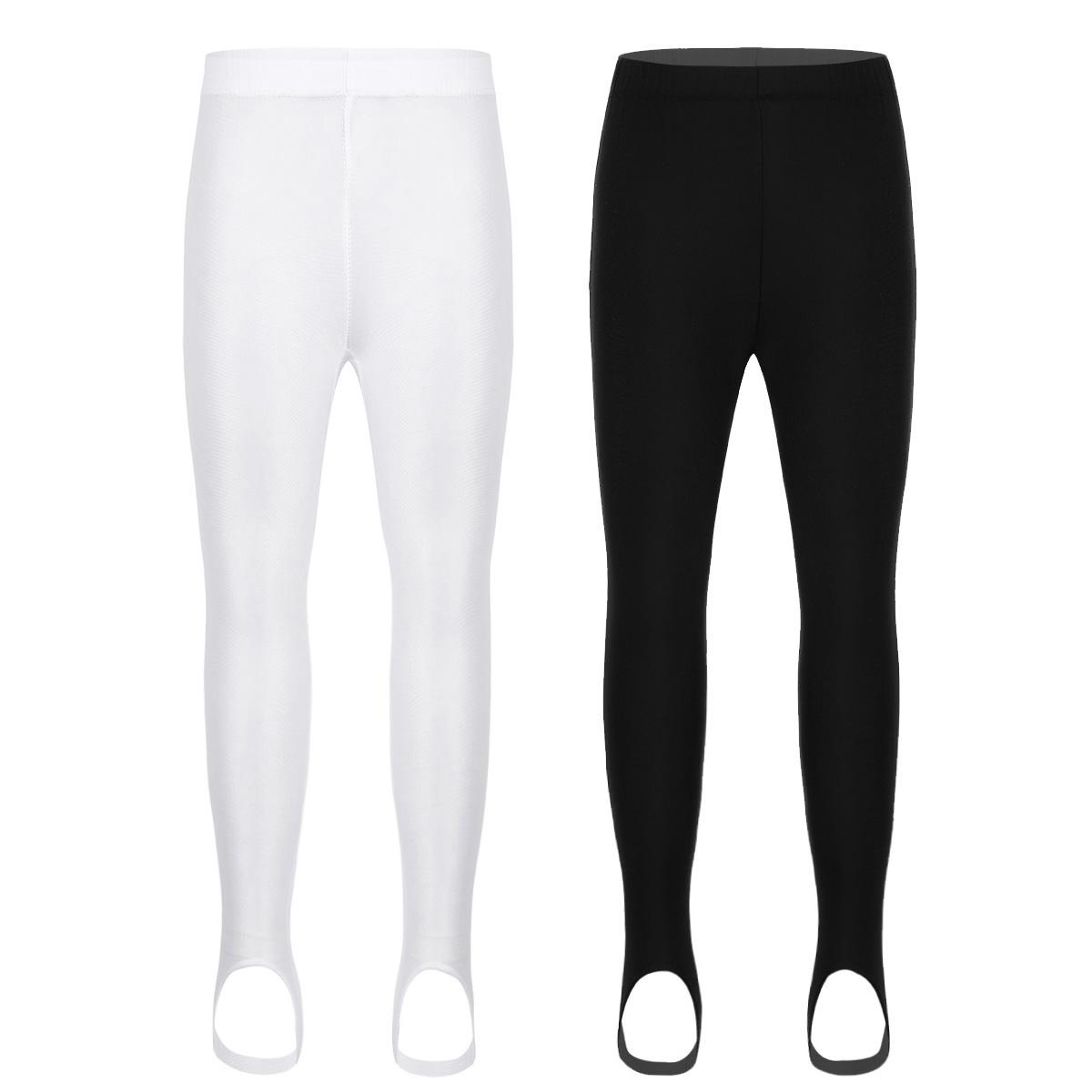 TiaoBug Kids Girls Black Dance Jazz Pants Trousers Stretchy Loose Capri Length Ballet Gymnastics Yoga
