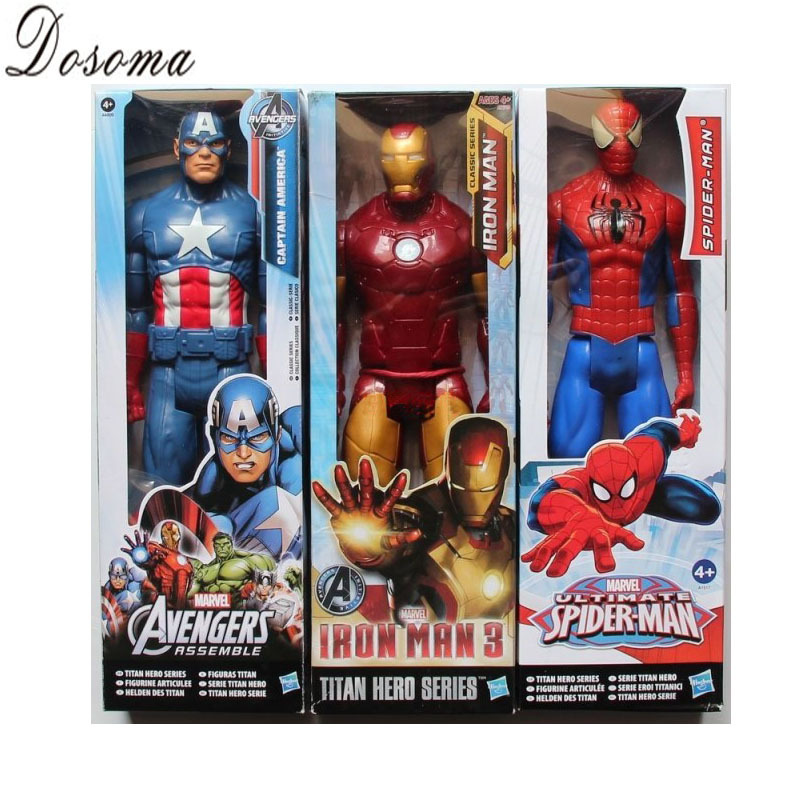 Гаджет  New Arrive One Piece The Avengers Action Figures 30cm PVC Hot Toys Captain America Batman  Iron Man Spiderman Figure Model 20039 None Игрушки и Хобби