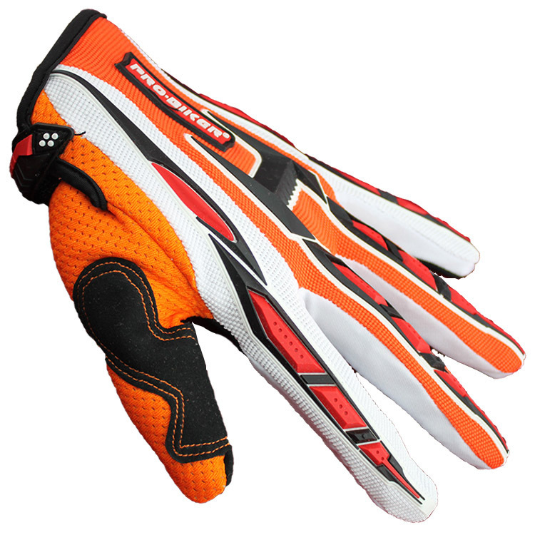 Pro Biker Outdoor Racing Sports cycling gloves Motorcycle Gloves 3D Breathable Fabric 4 colors full finger Gloves for men women(China (Mainland))
