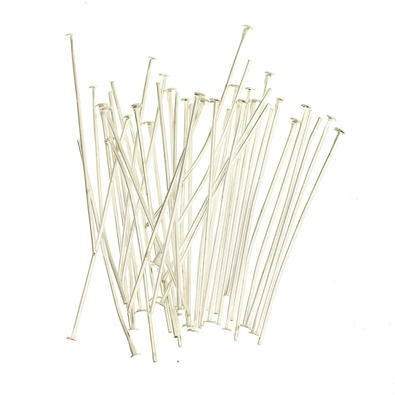 Wholesale 100pcs in Bulk Metal Silver Plated Head Pins Findings Gold for Jewelry Making