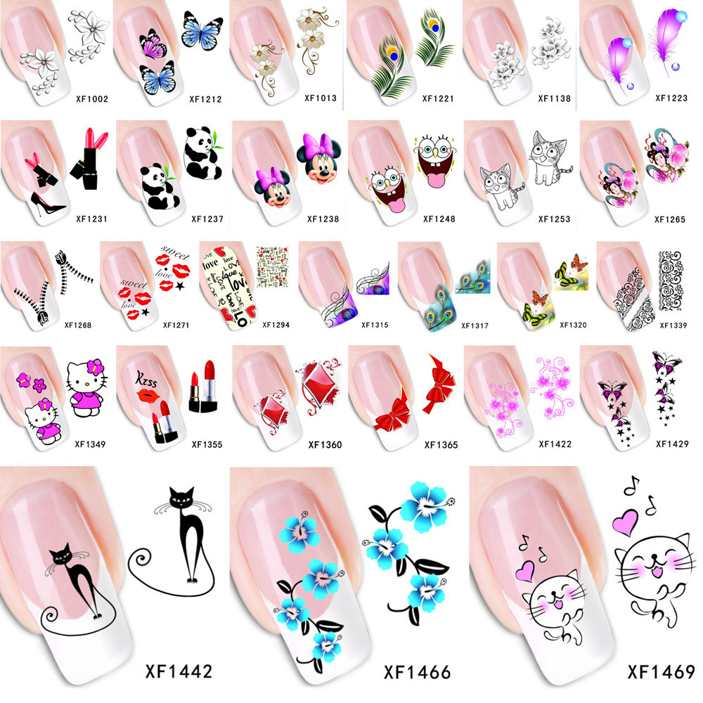 YZWLE 1 Set DIY Decals Nails Art Water Transfer Printing Stickers Accessories For Manicure Salon(China (Mainland))