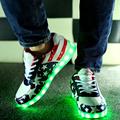 2016 hot fashion Led shoes for adults women casual shoes Led light shoes USB led luminous