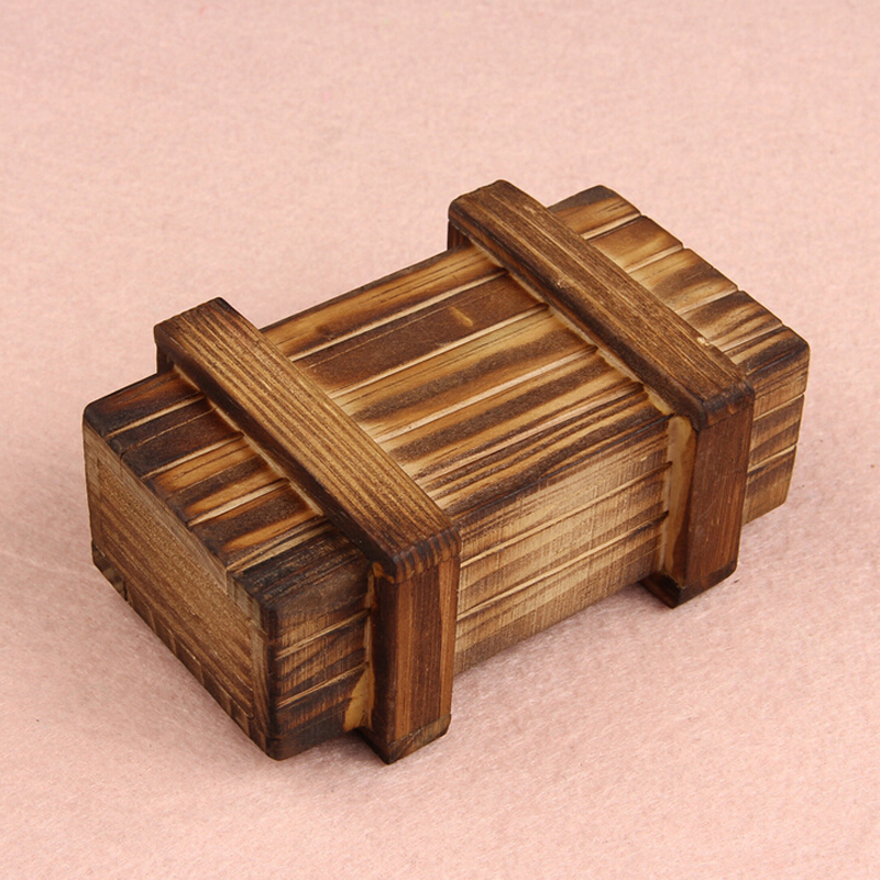 Novel Designs Intelligence Magic Puzzle Wooden Secret Box Compartment Gift Brain Teaser New(China (Mainland))