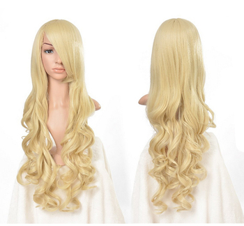 Harajuku Cosplay Wig Red High quality 70CM Curly Wave Hair Long Synthetic Wig