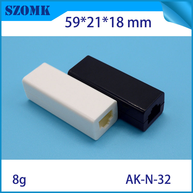 1 piece, 59*21*18mm plastic electrical switch enclosure box szomk plastic box for pcb project case small usb flash drive shell(China (Mainland))