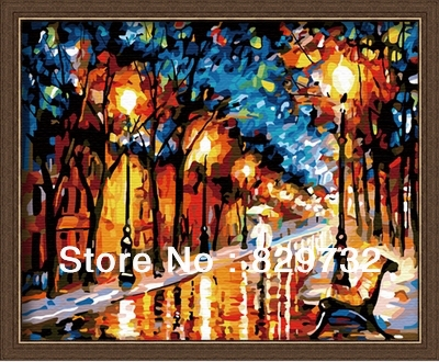 JIUJIU DIY digital oil painting picture unique gift decoration 40X50cm Happiness walking alone paint number - Store store