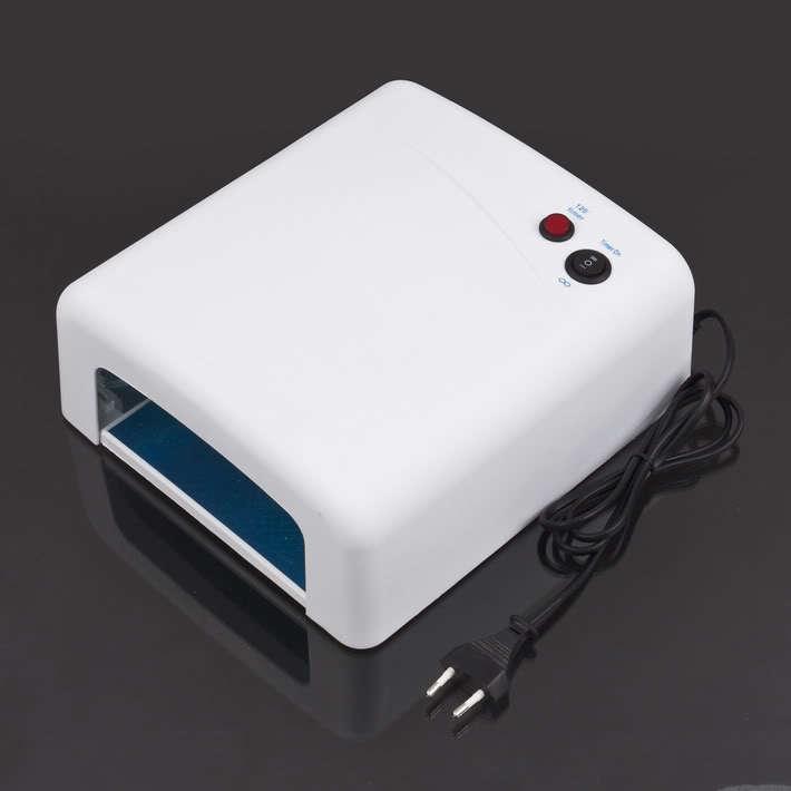 1PCS White/Pink UV Salon Gel 36W 220V/110V UV Curing Finger Feet Nail Art Tube Light Dryer with 4X 9W Lamp Free Shipping(China (Mainland))