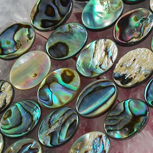 """14X10MM MOP Abalone Shell Flat Oval Jewelry Loose Beads 16"""" for Pendants Necklaces Earrings Bracelets Beads"""